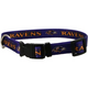 Baltimore Ravens Raven Head Dog Collar Large