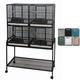 A and E 4-Unit Bird Cage Platinum
