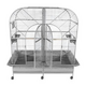 A and E Double Macaw Bird Cage Platinum