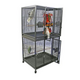 A and E Double Stack Breeder Bird Cage Platinum