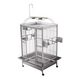 A and E Stainless Steel Playtop Bird Cage 38 Inch