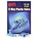 Lees Plastic Valve 2pk 3 Way