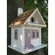 Shotgun Cottage Birdhouse White