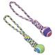 SPOT Rainbow Twister Tennis Ball Tug Rope Dog Toy