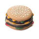 SPOT Vinyl Hamburger Squeaker Dog Toy