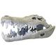 Blue Ribbon Nile Crocodile Skull Ornament