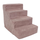 Majestic Pet 4 Step Suede Dog Stairs Stone