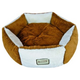 Armarkat Silky Soft Brown and Ivory Pet Bed