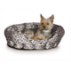 KH Mfg Warming Nuzzle Nest Black Pet Bed