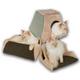 KH Mfg Thermo-Kitty Cabin Mocha Heated Cat Bed