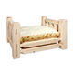 Homestead Collection Lacquered Wood Dog Bed Large