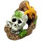 Blue Ribbon Skull with Starfish Ornament