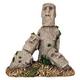 Blue Ribbon Easter Island Statues Ornament
