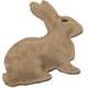 SPOT Dura-Fused Leather Rabbit Dog Toy