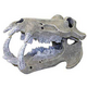 Blue Ribbon Hippo Skull Ornament