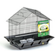 Prevue Clean Life House Bird Cage Blk/Blk