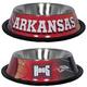 NCAA Arkansas Razorbacks Stainless Steel Dog Bowl