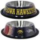 NCAA Iowa Hawkeyes Stainless Steel Dog Bowl