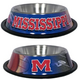 NCAA Mississippi Rebels Stainless Dog Bowl
