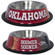 NCAA Oklahoma Sooners Stainless Steel Dog Bowl