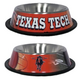NCAA Texas Tech Stainless Steel Dog Bowl