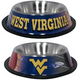 NCAA West Virginia Stainless Steel Dog Bowl