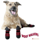 Muttluks Woof Walkers Burgundy Dog Boots X-Large