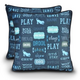 PLAY Dogs Life Dark Blue Pillow Dog Bed