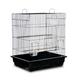 Prevue Square Roof Parakeet/Tiel Cage Wht/Wht