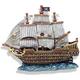 Blue Ribbon Skull and Crossbone Ship Ornament