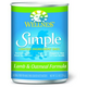 Wellness Simple Lamb/Oatmeal Can Dog Food 12 Pack
