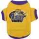 NCAA LSU Tigers Dog Tee Shirt Large