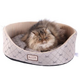 Armarkat Bolstered Quilted Silver/Beige Cat Bed