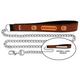NFL Cincinnati Bengals Leather Chain Leash LG