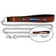 NFL Denver Broncos Leather Chain Leash LG