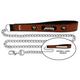 NFL Jacksonville Jaguars Leather Chain Leash LG