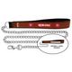 NFL San Francisco 49ers Leather Chain Leash LG
