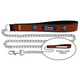 NFL St. Louis Rams Leather Chain Leash LG