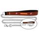 NFL Washington Redskins Leather Chain Leash LG