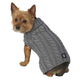 Petrageous Marleys Cable Dog Sweater Medium Gray