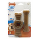 Nylabone Puppy Chew Wolf Twin Pack Ring/Flexi
