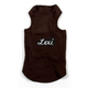 Personalized Ribbed Dog Tank MD Turquoise