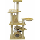 Go Pet Club 62 inch F208 Beige Cat Tree Furniture