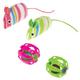 Savy Tabby Stripe Mice and Jingle Ball 4Pk Cat Toy