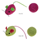ST Knit Mouse and Rattle Ball 2pk Cat Toy PRP
