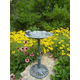 Frog Bird Bath Verdi Grey