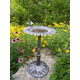 Sunflower Bird Bath Antique Pewter