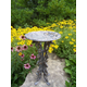Butterfly Dragonfly Bird Bath Antique Pewter