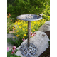 Hummingbird Bird Bath Antique Pewter