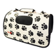 Pet Life Folding Cage Paw Print Pet Carrier LG